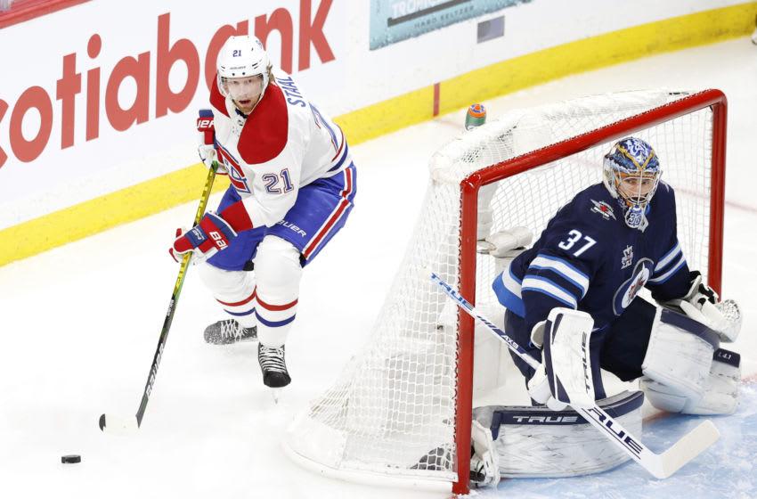 Jun 2, 2021; Winnipeg, Manitoba, CAN; Montreal Canadiens Eric Staal. Mandatory Credit: James Carey Lauder-USA TODAY Sports