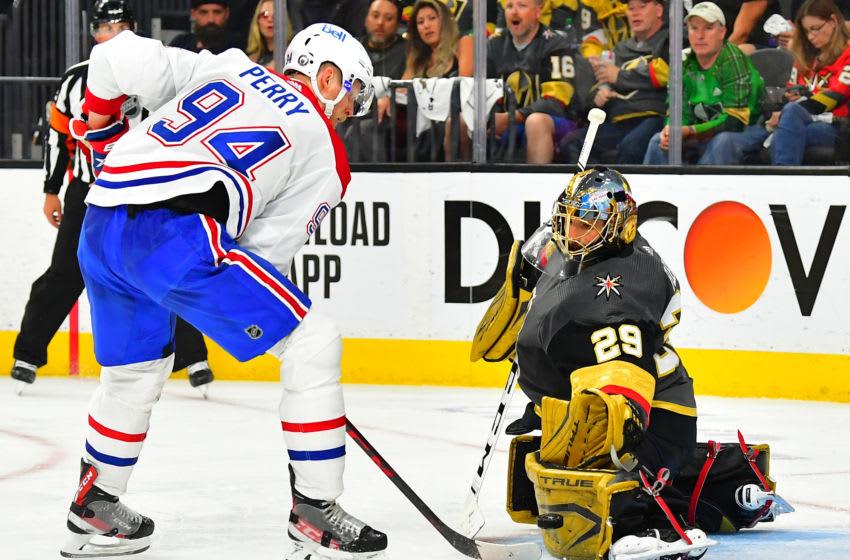 Jun 16, 2021; Las Vegas, Nevada, USA; Montreal Canadiens Corey Perry. Mandatory Credit: Stephen R. Sylvanie-USA TODAY Sports