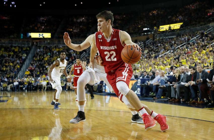 ANN ARBOR, MI - FEBRUARY 16: Ethan Happ (Photo by Gregory Shamus/Getty Images)
