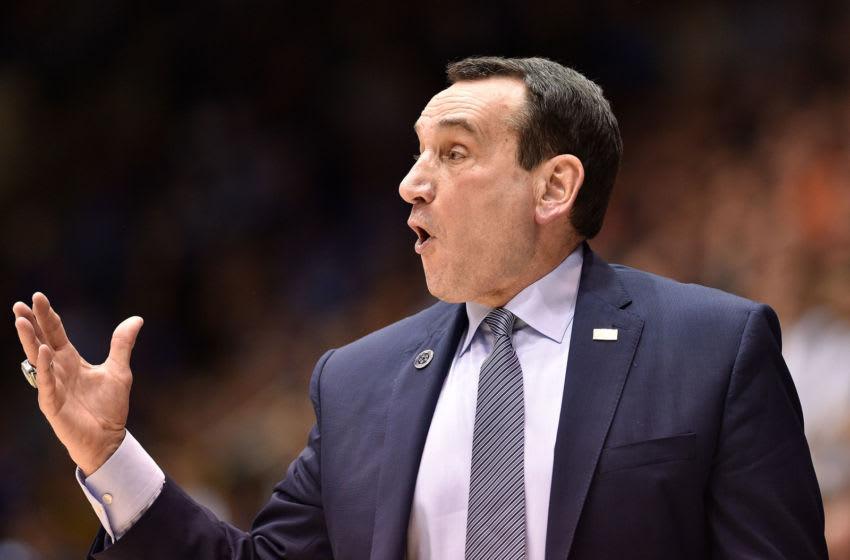 Duke basketball head coach Mike Krzyzewski (Photo by Grant Halverson/Getty Images)