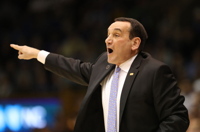 Duke basketball head coach Mike Krzyzewski (Photo by Streeter Lecka/Getty Images)