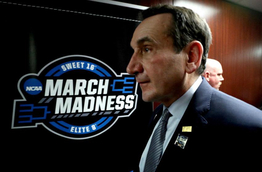 Duke basketball head coach Mike Krzyzewski (Photo by Patrick Smith/Getty Images)