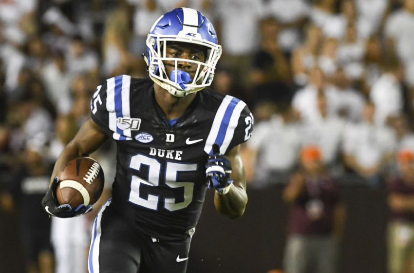 Duke football running back Deon Jackson. (Photo by Michael Shroyer/Getty Images)