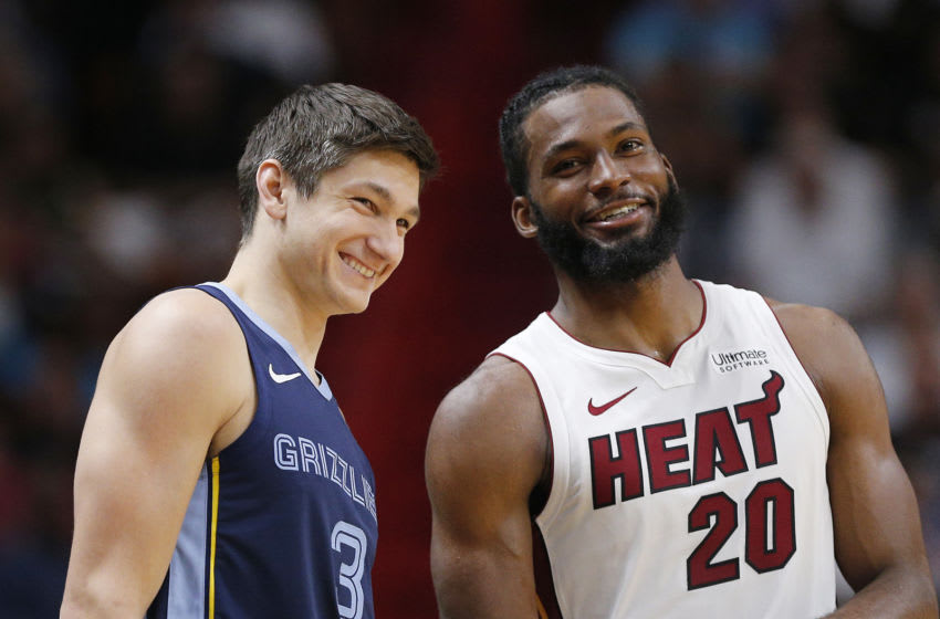 Former Duke basketball standouts Grayson Allen and Justise Winslow. (Photo by Michael Reaves/Getty Images)