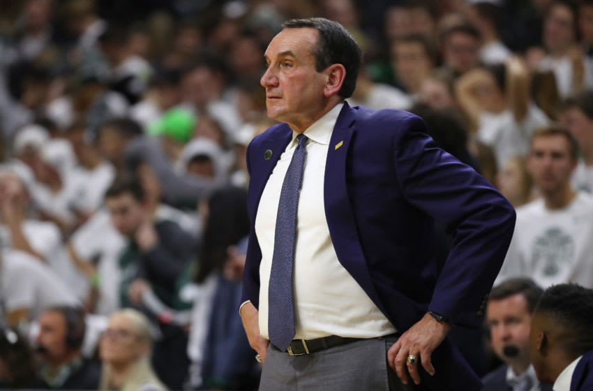 Duke basketball head coach Mike Krzyzewski (Photo by Gregory Shamus/Getty Images)