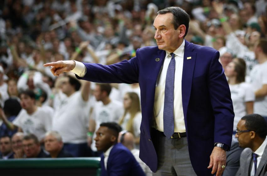Duke basketball head coach Mike Krzyzewski (Photo by Gregory Shamus/Getty Images)