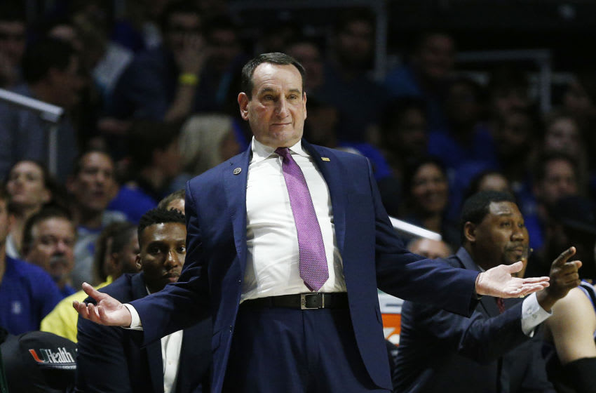 Duke basketball head coach Mike Krzyzewski (Photo by Michael Reaves/Getty Images)