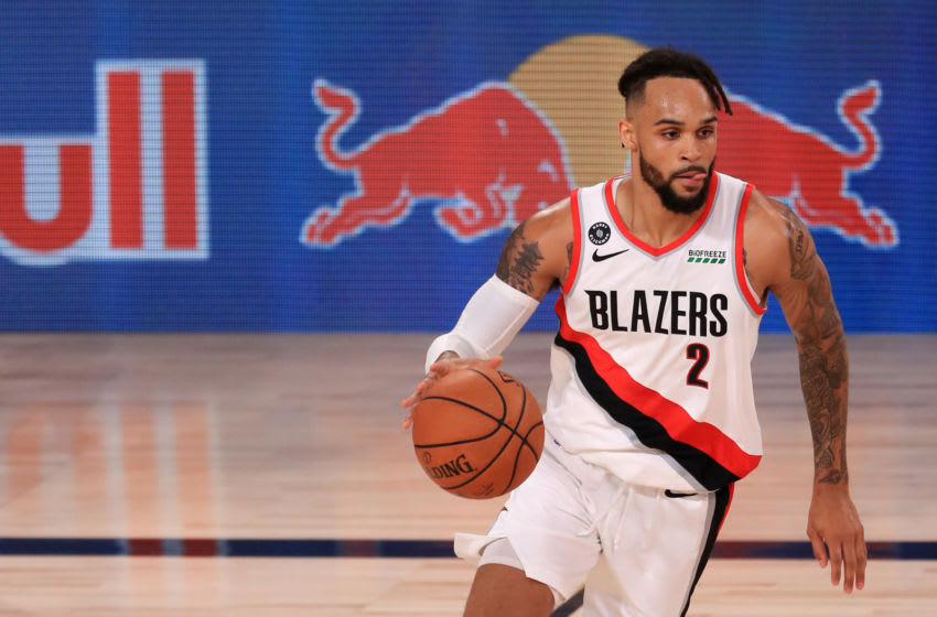 Former Duke basketball standout Gary Trent Jr. plays for the Portland Trail Blazers. (Photo by Mike Ehrmann/Getty Images)