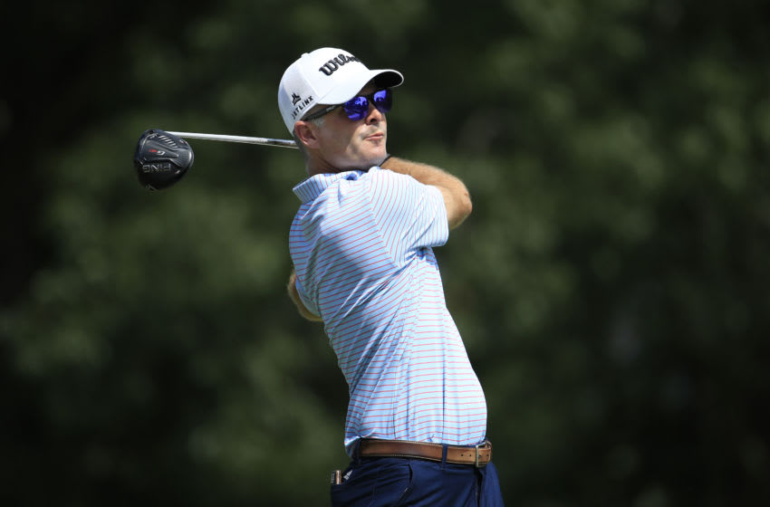 Former Duke golf standout Kevin Streelman playing in the second round of the BMW Championship. (Photo by Andy Lyons/Getty Images)