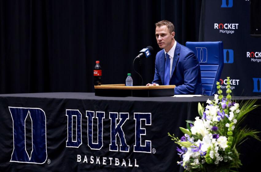 Duke basketball head coach-in-waiting Jon Scheyer (Photo by Grant Halverson/Getty Images)