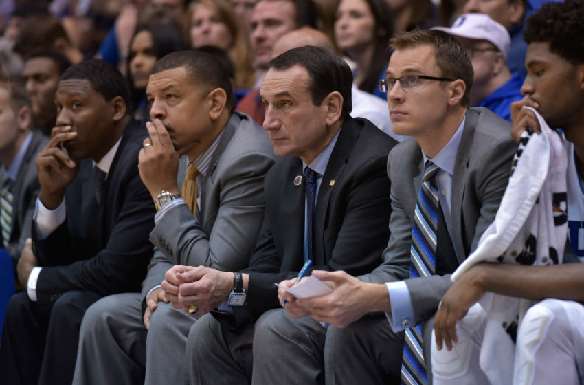 Duke basketball coaching staff (Photo by Grant Halverson/Getty Images)