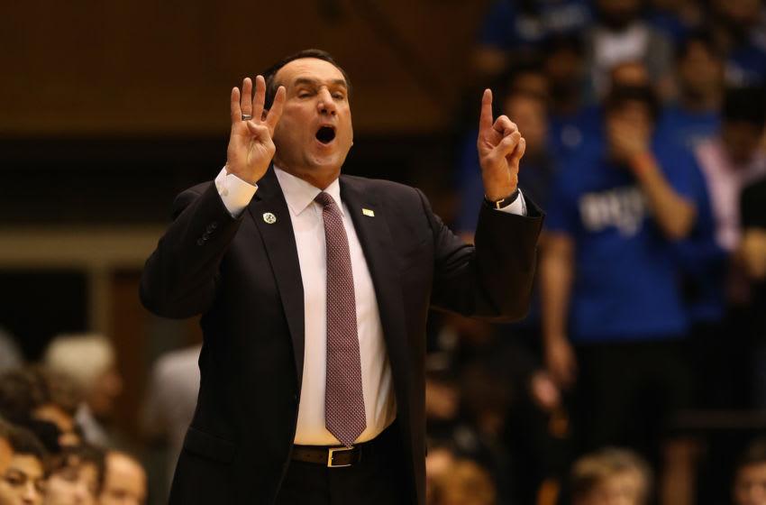 Duke basketball coach Mike Krzyzewski (Photo by Streeter Lecka/Getty Images)