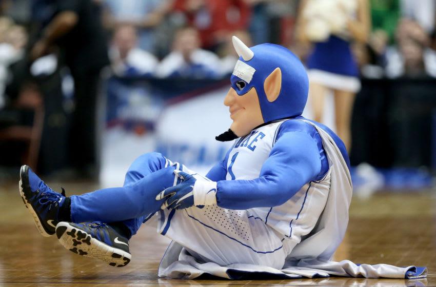 Duke basketball mascot (Photo by Sean M. Haffey/Getty Images)