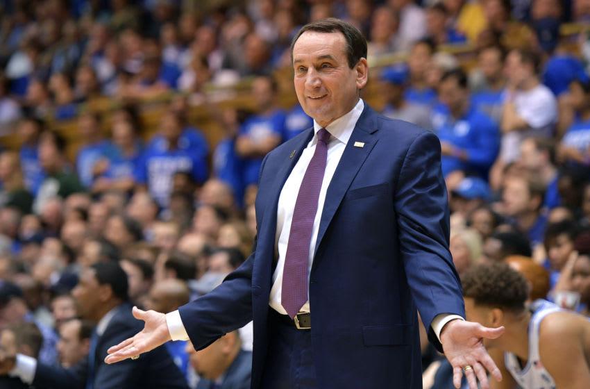 Duke basketball head coach Mike Krzyzewski (Photo by Lance King/Getty Images)