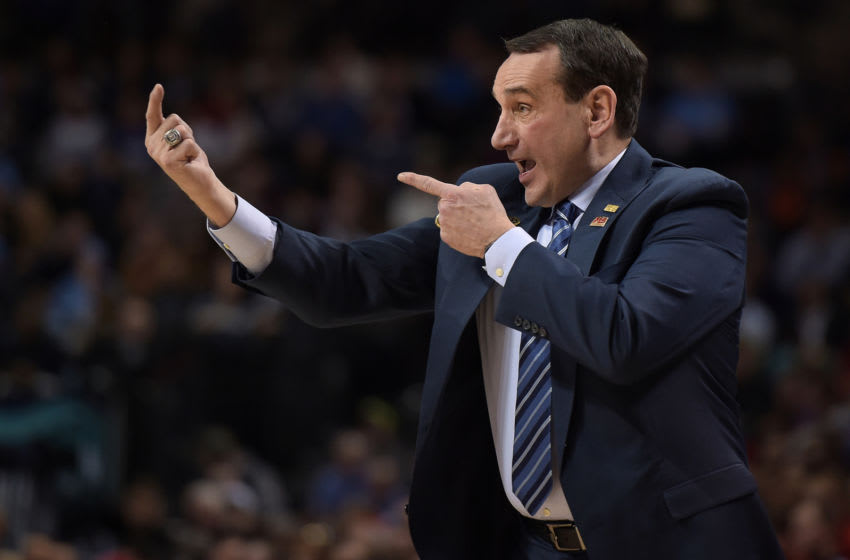 Duke basketball head coach Mike Krzyzewski (Photo by Lance King/Getty Images)