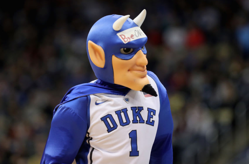 Duke basketball mascot (Photo by Rob Carr/Getty Images)