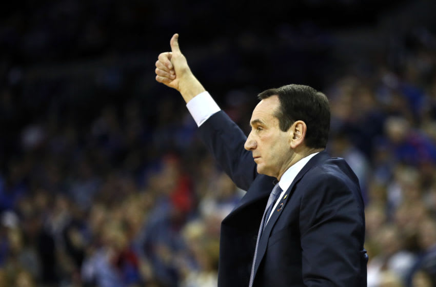 Duke basketball head coach Mike Krzyzewski (Photo by Jamie Squire/Getty Images)