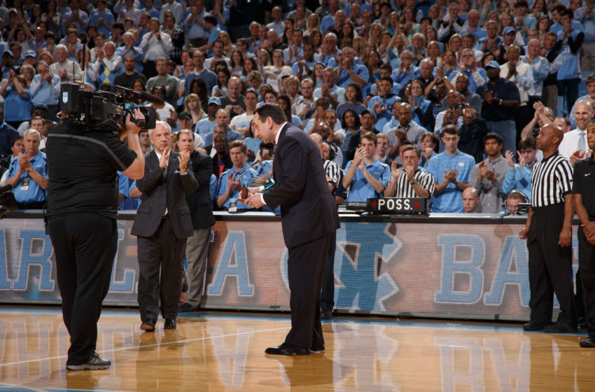 Duke basketball head coach Mike Krzyzewski (Photo by Peyton Williams/UNC/Getty Images)