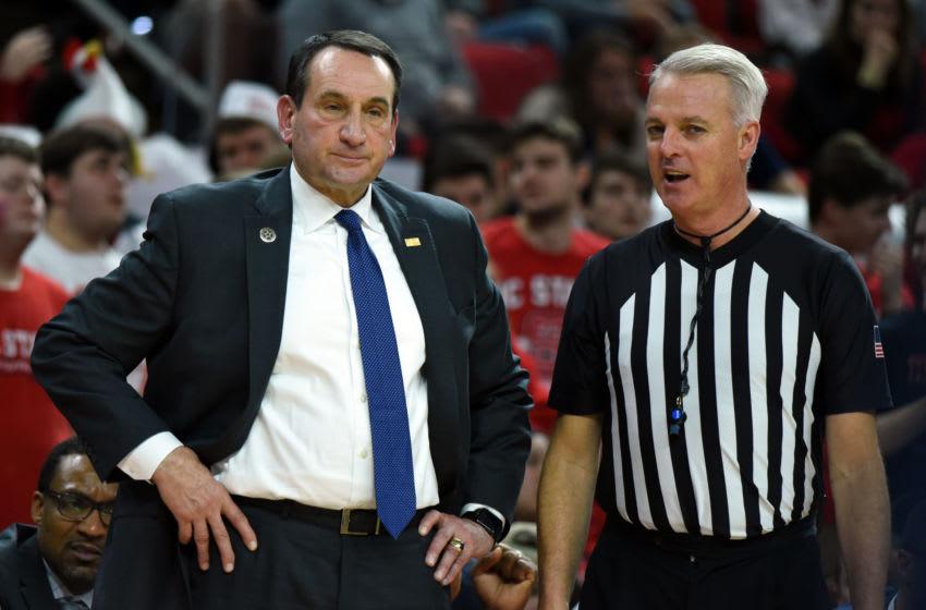 Duke basketball head coach Mike Krzyzewski (Mandatory Credit: Rob Kinnan-USA TODAY Sports)