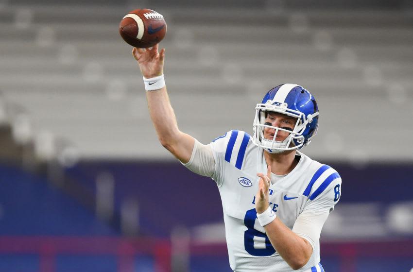 Duke football quarterback Chase Brice (Mandatory Credit: Rich Barnes-USA TODAY Sports)
