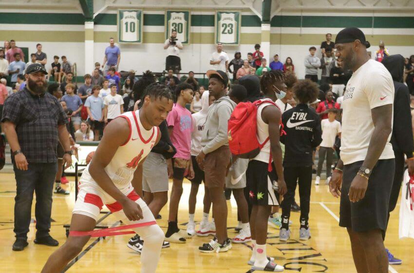 Duke basketball recruiting prospect LeBron James Jr. (Phil Masturzo/ Beacon Journal)