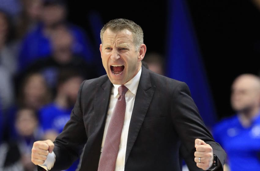 LEXINGTON, KENTUCKY - JANUARY 11: Nate Oats the head coach of the Alabama Crimson Tide gives instructions to his team against the Kentucky Wildcats at Rupp Arena on January 11, 2020 in Lexington, Kentucky. (Photo by Andy Lyons/Getty Images)