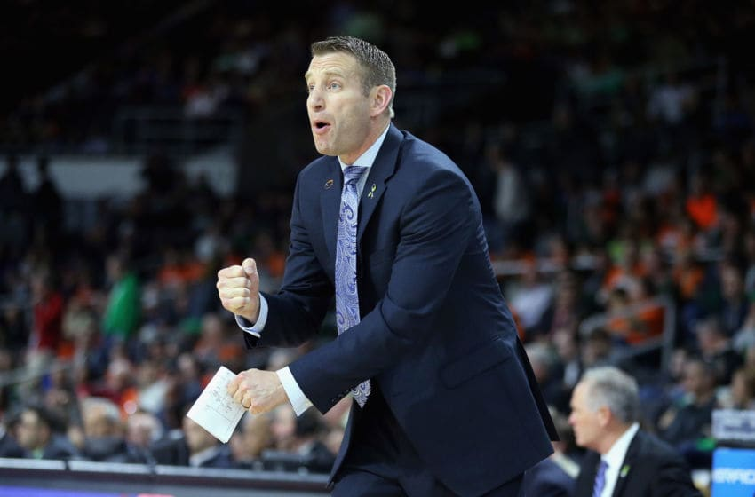 PROVIDENCE, RI - MARCH 17: Head coach Nate Oats of the Buffalo Bulls reacts in the first half against the Miami Hurricanes during the first round of the 2016 NCAA Men's Basketball Tournament at Dunkin' Donuts Center on March 17, 2016 in Providence, Rhode Island. (Photo by Jim Rogash/Getty Images)