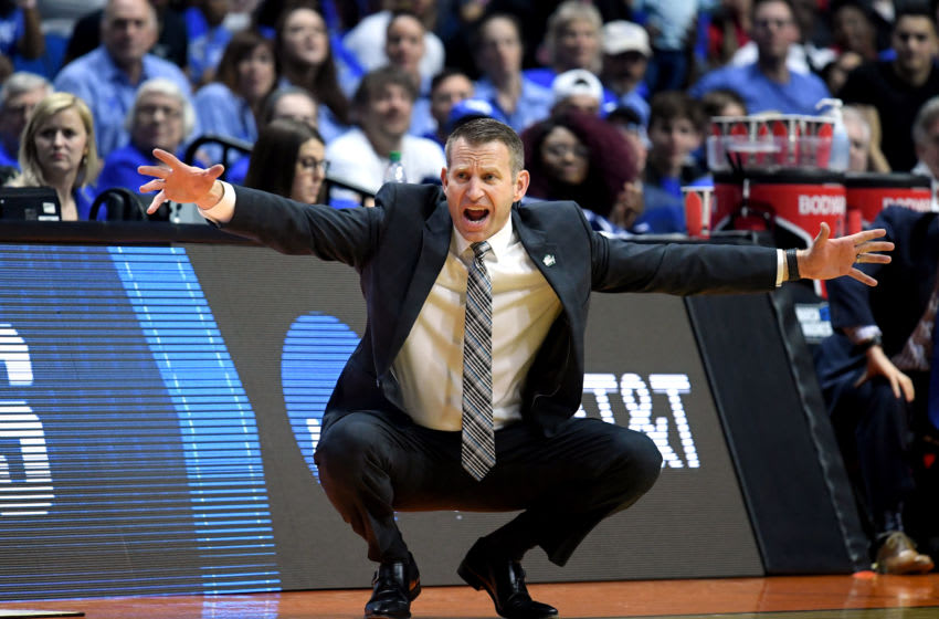 TULSA, OKLAHOMA - MARCH 22: Head coach Nate Oats of the Buffalo Bulls reacts from the sidelines during the second half of the first round game of the 2019 NCAA Men's Basketball Tournament against the Arizona State Sun Devils at BOK Center on March 22, 2019 in Tulsa, Oklahoma. (Photo by Harry How/Getty Images)
