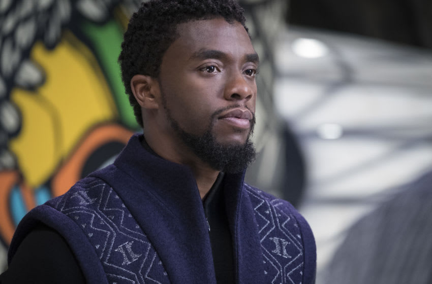 Marvel Studios' BLACK PANTHER..T'Challa/Black Panther (Chadwick Boseman)..Photo: Matt Kennedy..©Marvel Studios 2018