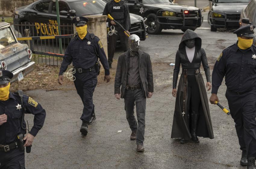 Watchmen -- Regina King, Tim Blake Nelson. photo: Mark Hill/HBO