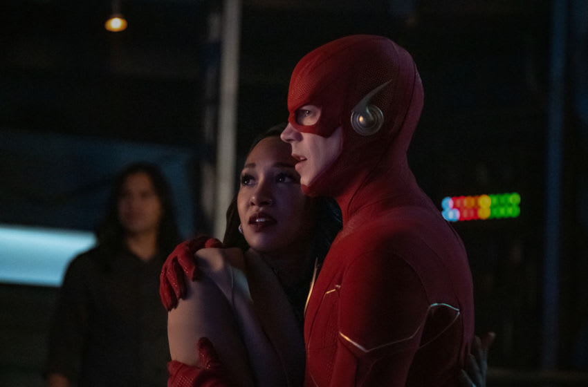 The Flash -- The Last Temptation of Barry Allen, Pt. 2 -- Image Number: FLA608a_0201r.jpg -- Pictured (L-R): Candice Patton as Iris West - Allen and Grant Gustin as The Flash -- Photo: Katie Yu/The CW -- © 2019 The CW Network, LLC. All rights reserved