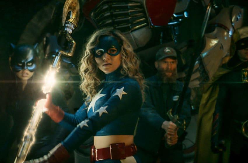 Yvette Monreal as Wildcat, Brec Bassinger as Stargirl, Mark Ashworth as Justin and Cameron Gellman as Hourman in DC's Stargirl --