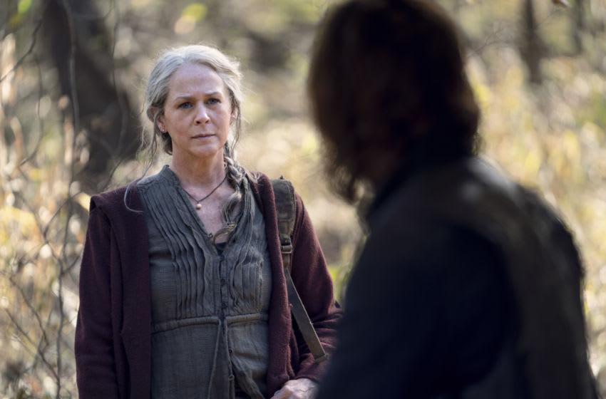 Norman Reedus as Daryl Dixon, Melissa McBride as Carol Peletier - The Walking Dead _ Season 10 - Photo Credit: Eli Ade/AMC