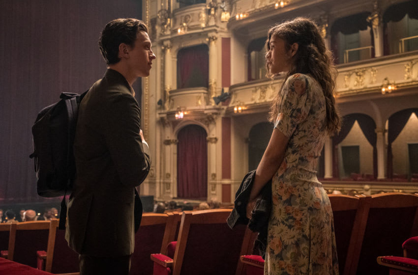 Tom Holland and Zendaya in Columbia Pictures' SPIDER-MAN: ™ FAR FROM HOME.