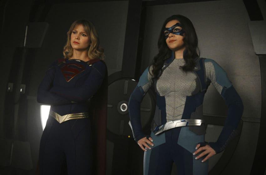 Melissa Benoist and Nicole Maines in Supergirl season 5, episode 18