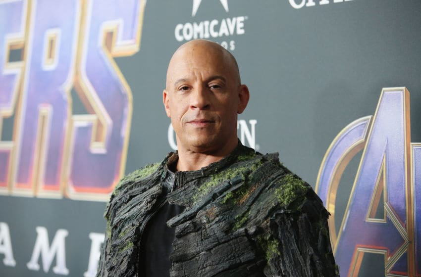 LOS ANGELES, CA - APRIL 22: Vin Diesel attends the Los Angeles World Premiere of Marvel Studios'