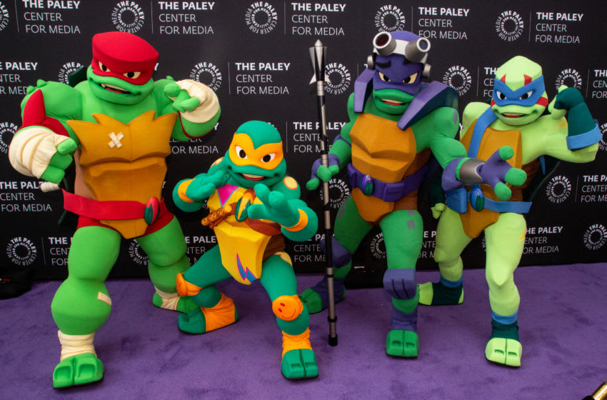 BEVERLY HILLS, CALIFORNIA - JUNE 22: The Teenage Mutant Ninja Turtles attend the