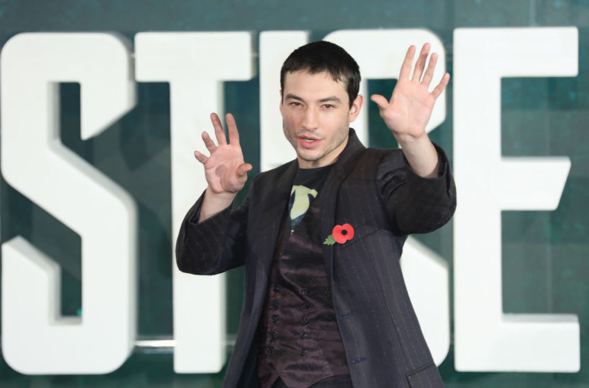 LONDON, ENGLAND - NOVEMBER 04: Actor Ezra Miller attends the 'Justice League' photocall at The College on November 4, 2017 in London, England. (Photo by Tim P. Whitby/Getty Images)
