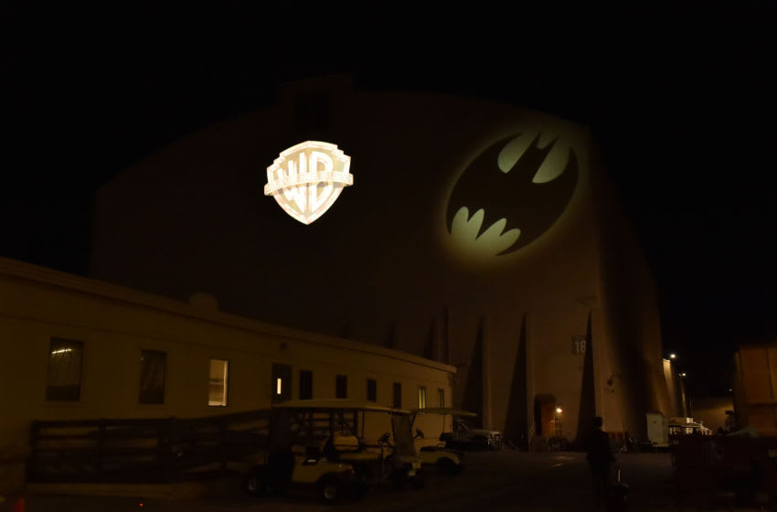 BURBANK, CALIFORNIA - SEPTEMBER 20: The Bat-Signal illuminated historic Stage 16 at the Warner Bros. Studios Lot in Burbank, California, home of Batman Returns, Batman Forever and Batman & Robin on September 20, 2019 in Burbank, California. (Photo by Lester Cohen/Getty Images for Warner Bros.)