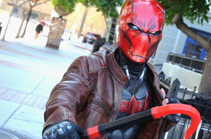 Cosplayer Jacob Lavelle as Red Hood