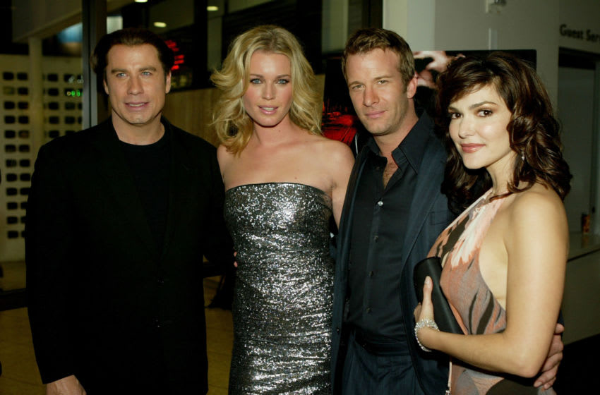 HOLLYWOOD - APRIL 12: Actors John Travolta, Rebecca Romijn-Stamos, Thomas Jane and Laura Harring attend the Los Angeles premiere of the Lion's Gate film
