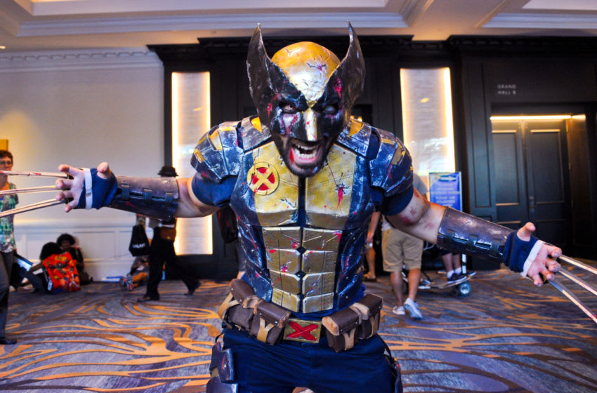 SAN DIEGO, CA - JULY 21: Cosplayer dressed as Wolverine from 'X-Men' on day 1 of Comic-Con International 2016 at San Diego Convention Center on July 20, 2016 in San Diego, California. (Photo by Albert L. Ortega/Getty Images)