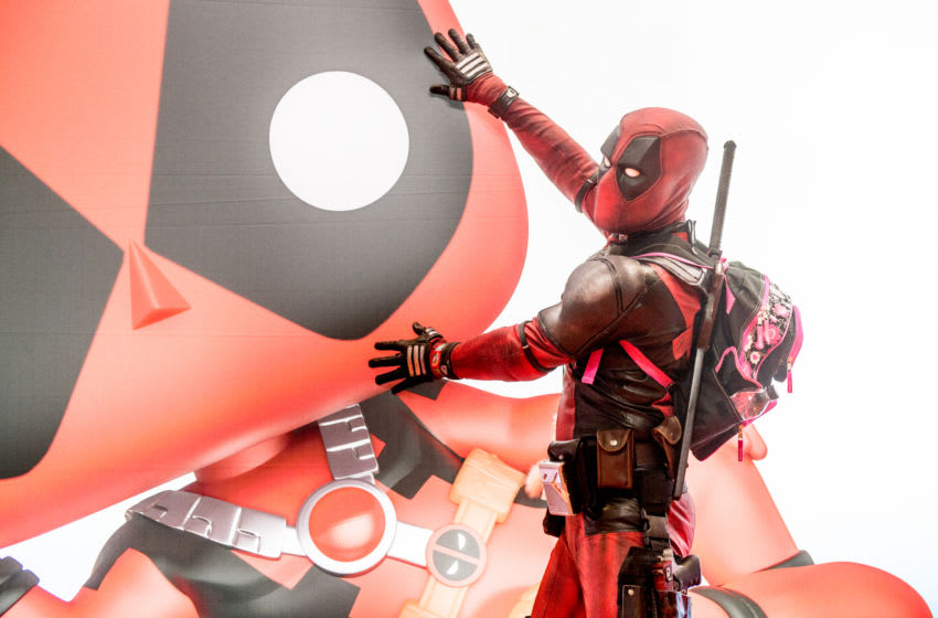 A cosplayer in character as Deadpool (Photo by Ollie Millington/Getty Images)