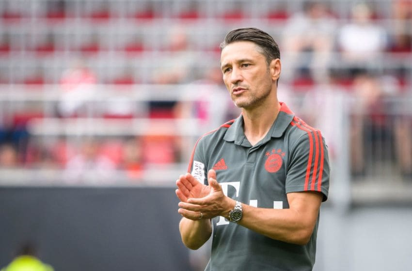 Bayern Munich's head coach Niko Kovac reacts during the International Champions Cup football match Bayern Munich against Paris Saint-Germain (PSG) on July 21, 2018 at the Worthersee Stadium in Klagenfurt, Austria. (Photo by Jure Makovec / AFP) (Photo credit should read JURE MAKOVEC/AFP/Getty Images)