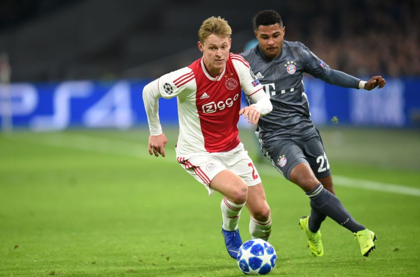 Frenkie De Jong was impressive fro Ajax against Bayern Munich in 2018 before joining Barcelona in 2019. (Photo credit should read JOHN THYS/AFP via Getty Images)