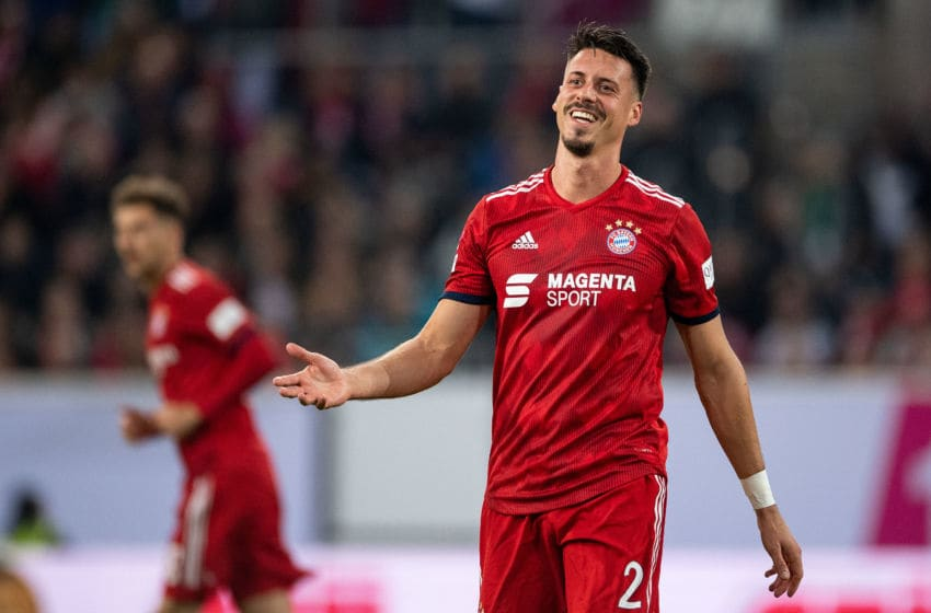13 January 2019, North Rhine-Westphalia, Düsseldorf: Soccer: Bundesliga,10th Telekom Cup, Final, Bayern Munich - Borussia Mönchengladbach in the Merkur arena. Munich's Sandro Wagner reacts during the game. Photo: Marius Becker/dpa - IMPORTANT NOTE: In accordance with the requirements of the DFL Deutsche Fußball Liga or the DFB Deutscher Fußball-Bund, it is prohibited to use or have used photographs taken in the stadium and/or the match in the form of sequence images and/or video-like photo sequences. (Photo by Marius Becker/picture alliance via Getty Images)