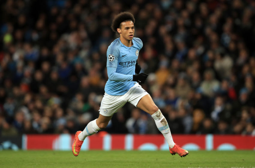 Leroy Sane, Manchester City. (Photo by Marc Atkins/Getty Images)