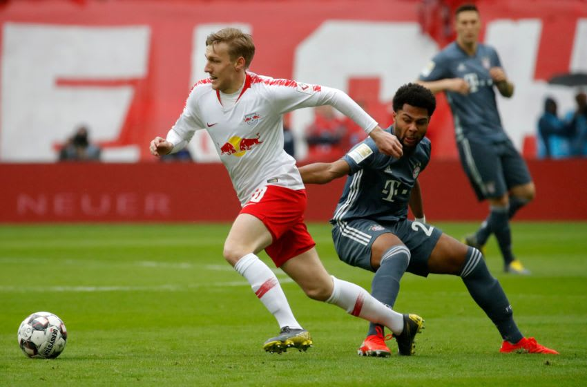 RB Leipzig forward Emil Forsberg linked with a move to Bayern Munich. (Photo credit should read ODD ANDERSEN/AFP via Getty Images)