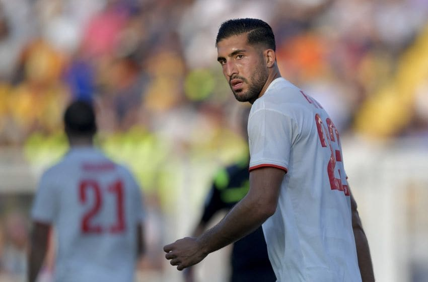 LECCE, ITALY - OCTOBER 26: Juventus player Emre Can during the Serie A match between US Lecce and Juventus at Stadio Via del Mare on October 26, 2019 in Lecce, Italy. (Photo by Daniele Badolato - Juventus FC/Juventus FC via Getty Images)