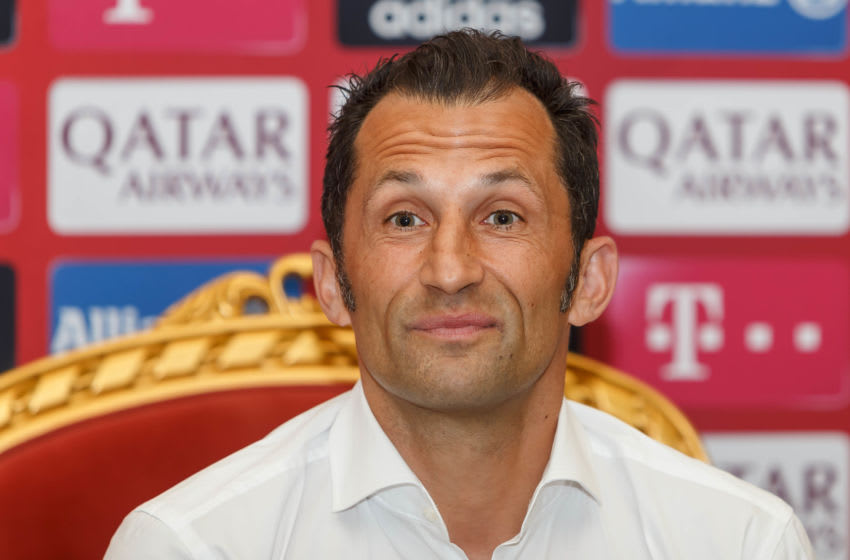 DOHA, QATAR - JANUARY 09: (BILD ZEITUNG OUT) Sporting director Hasan Salihamidzic of FC Bayern Muenchen interview during day six of the FC Bayern Muenchen winter training camp on January 9, 2020 in Doha, Qatar.(Photo by TF-Images/Getty Images)